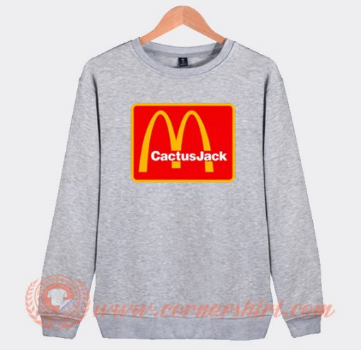 Travis Scott Cactus Jack X McDonald's Sweatshirt