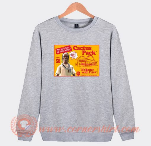 Travis Scott McDonald's Cactus Pack Sweatshirt