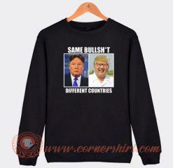 Same Bullshit Donald Trump Kim Jong Un Sweatshirt