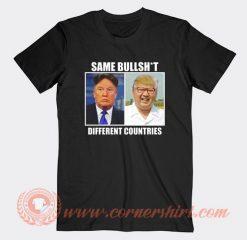 Same Bullshit Donald Trump Kim Jong Un T-Shirt