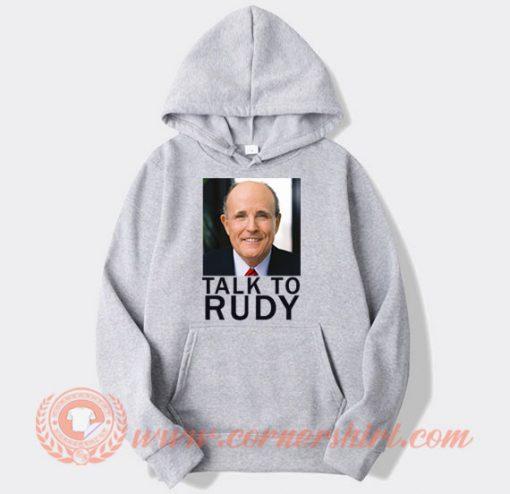 Talk To Rudy Giuliani Tucking In Hoodie