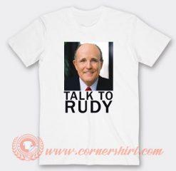 Talk To Rudy Giuliani Tucking In T-shirt