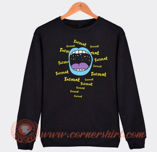 Mouthy Blue Tacocat Band Sweatshirt
