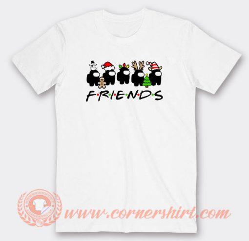 Among Us Christmas Friends Tv Show T-shirt