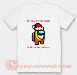Among Us Christmas Santa Yellow Impostor T-shirt