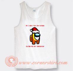 Among Us Christmas Santa Yellow Impostor Tank Top