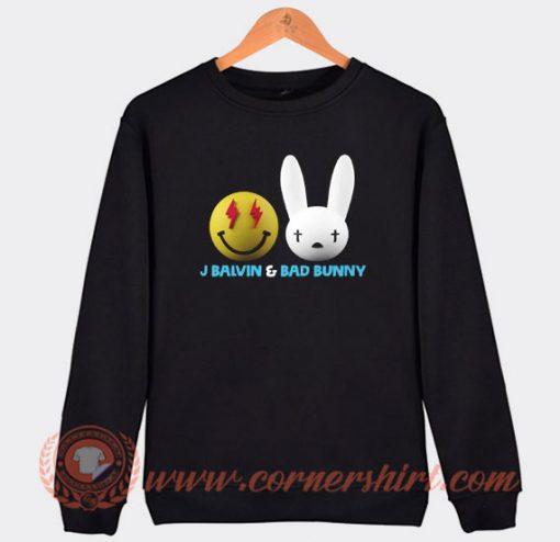 Bad Bunny and J Balwin Emote Sweatshirt