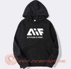 AIF Logo Attitude is Free Hoodie
