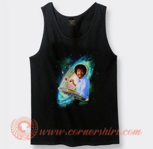 Bob Ross The Joy of Painting Galaxy Tank Top
