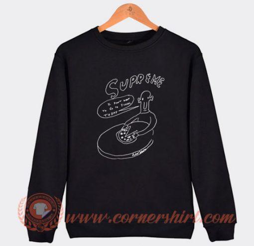 Supreme Daniel Johnston Pizza Sweatshirt