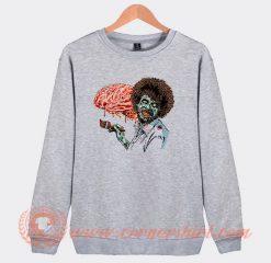Zombie Bob Ross Eat Brain Sweatshirt