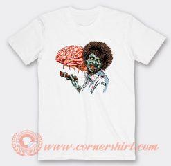 Zombie Bob Ross Eat Brain T-shirt