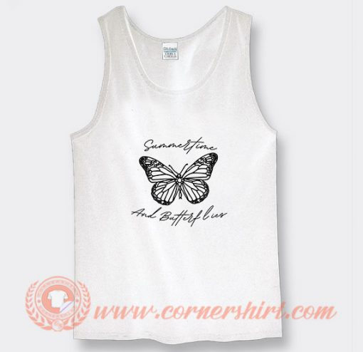 Summertime and Butterflies Louis Tomlinson Tank Top On Sale