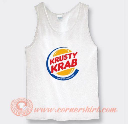Krusty Krab Pizza X Burger King Tank Top On Sale