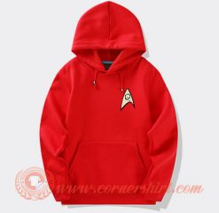 Star Trek Red Shirt Logo Hoodie On Sale