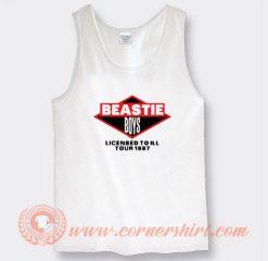 Beastie Boys Licenced To Ill Tour 1987 Tank Top