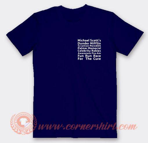 Michael Scott Dunder Mifflin Fun Run T-shirt On Sale