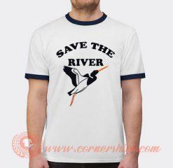 Save The River Abbie Hoffman T-shirt Ringer