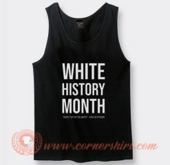White History Month Tank Top On Sale
