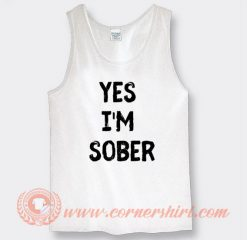 White Lie Party Yes I'm Sober Tank Top On Sale