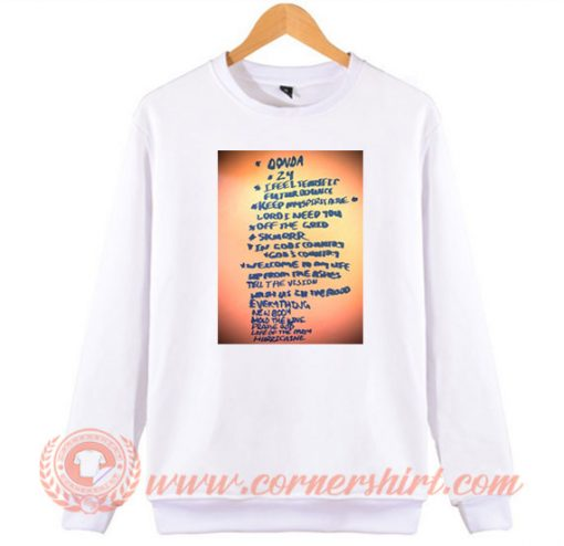 Kanye West Next Album Donda Concert Sweatshirt